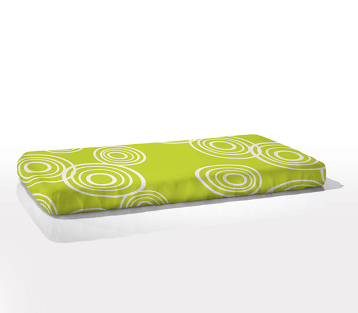 Nook Sleep Organic Cotton Fitted Cot Sheet - Puddle Lawn Green