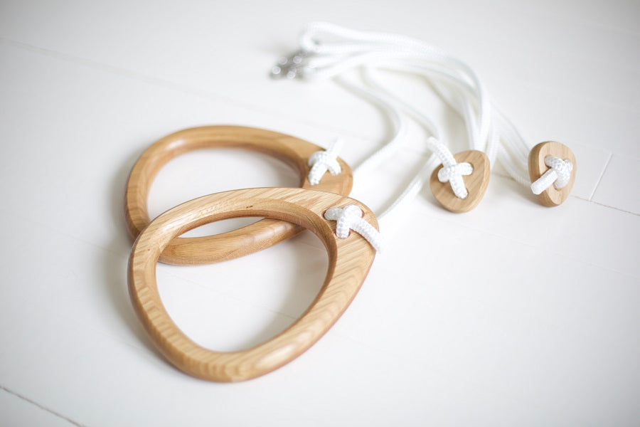 Lillagunga Indoor Gymnastics Rings Oak