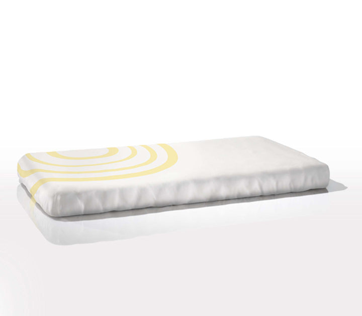 Nook Sleep Organic Cotton Fitted Cot Sheet - Ripple Daffodil Yellow
