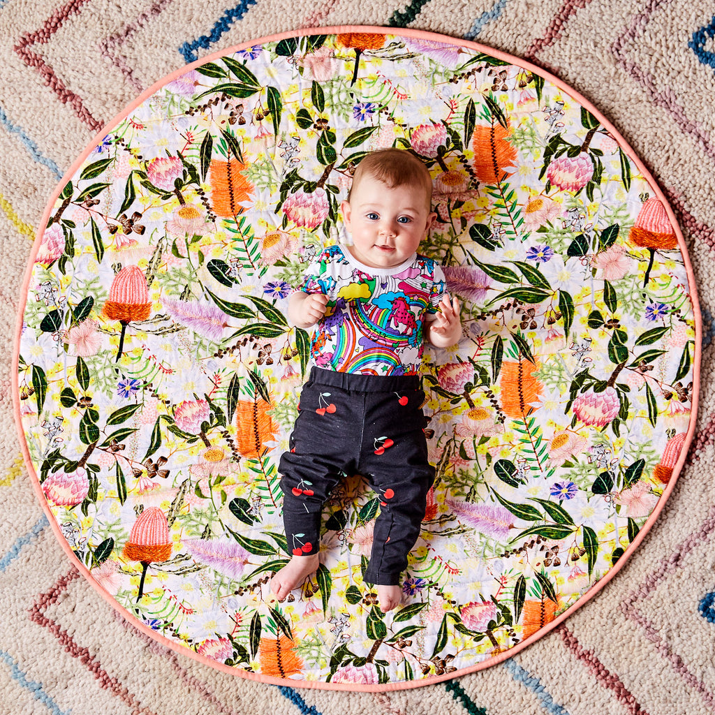 Kip & Co Quilted Baby Play Mat - Native Plantation