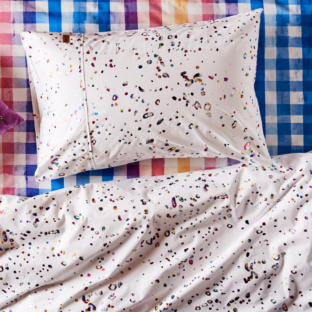 Kip & Co Kids Bedding - Single Quilt Cover Splatter Foil