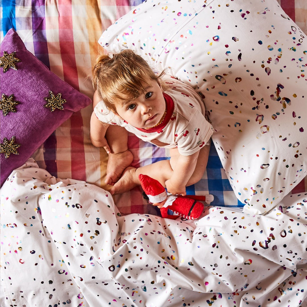 Kip & Co Kids Bedding - Splatter Foil Pillowcase