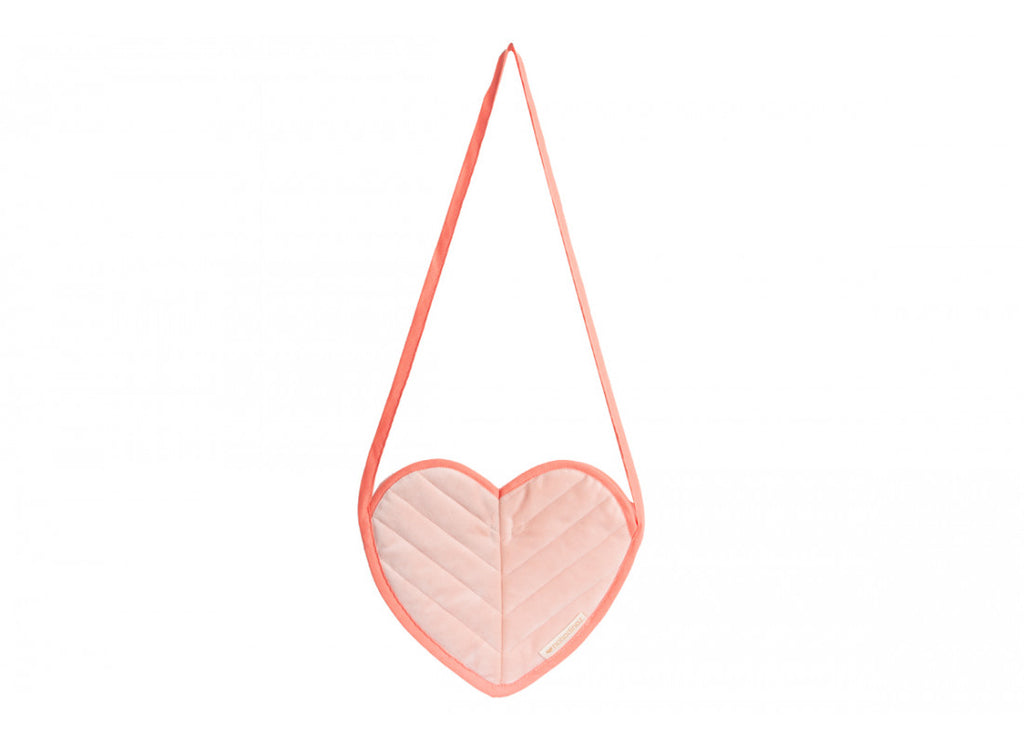 Nobodinoz Love Mini Velvet Kids Bag - pink