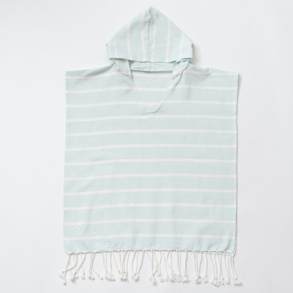 Zestt Organics - Organic Cotton Bondi Kids Poncho Towel in Sky Blue