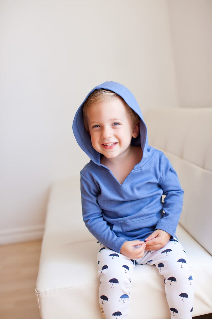 Loved Baby Organic Cotton Hoodie  Grey