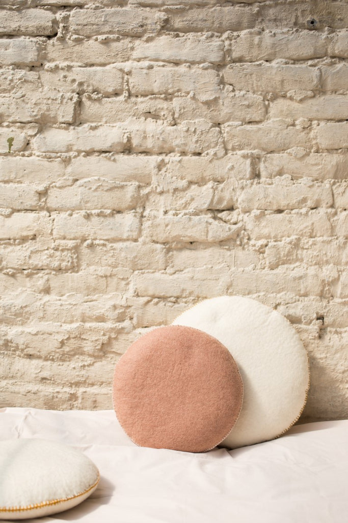 Muskhane Handmade Kids Felt Smartie Cushion  Dusty Pink