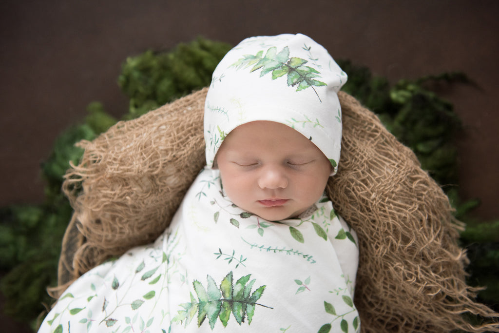 Snuggle Hunny Kids Baby Jersey Swaddle Wrap and Beanie Set - Enchanted