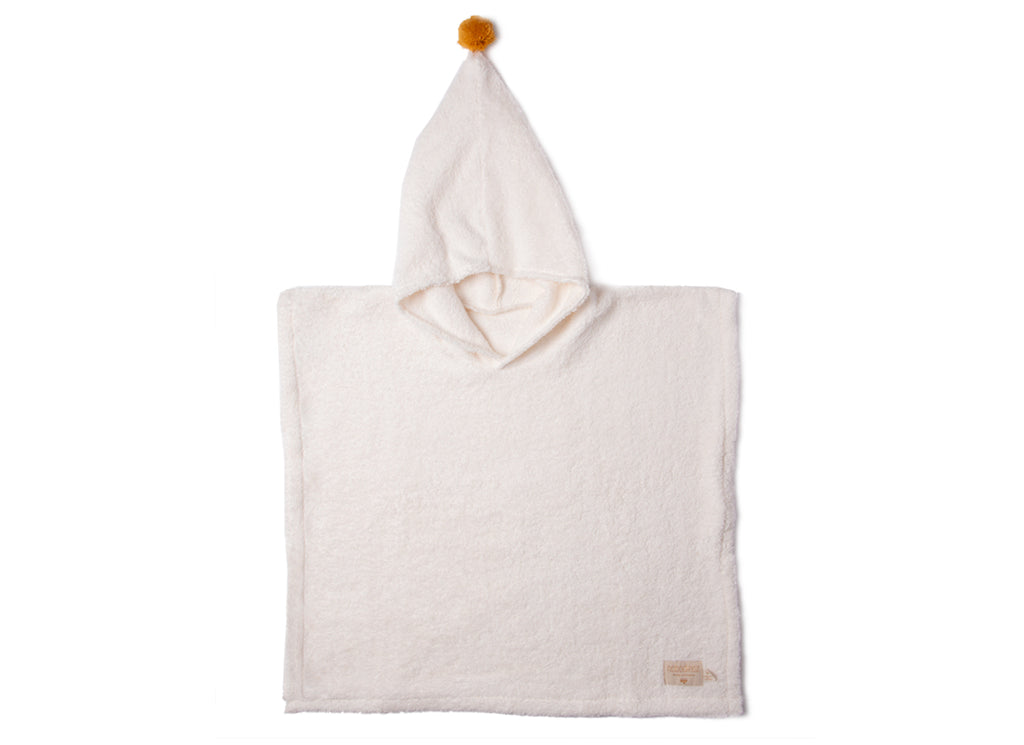 Nobodinoz - So Cute Kids Bath Towel Poncho in Natural