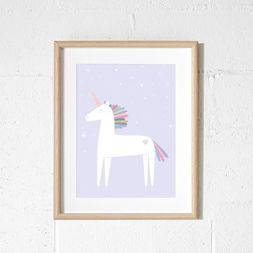 Sprout and Sparrow 'Unicorn' Wall Art  Lilac
