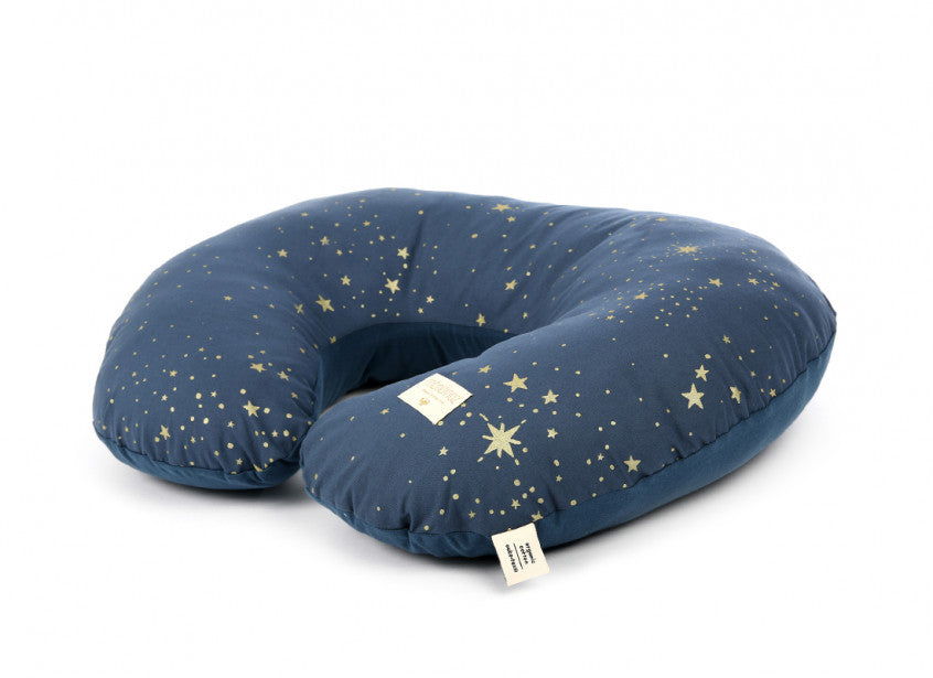Nobodinoz Nursing Pillow  Gold Stella Stars, Night Blue