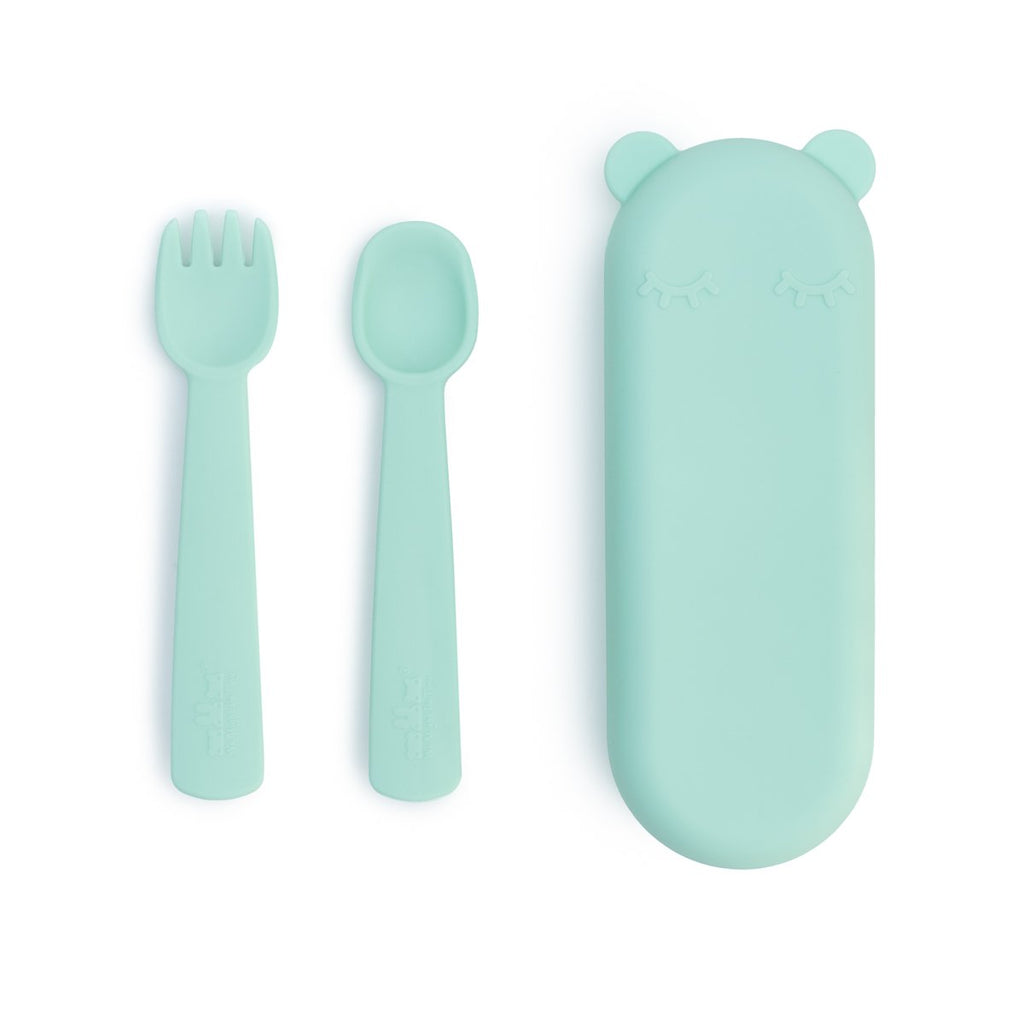We Might Be Tiny - Feedie Fork and Spoon Set Mint