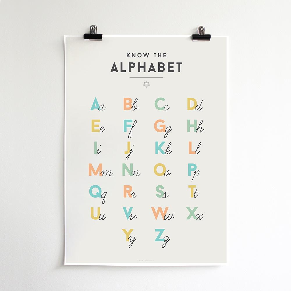 We Are Squared - Alphabet Poster For Kids