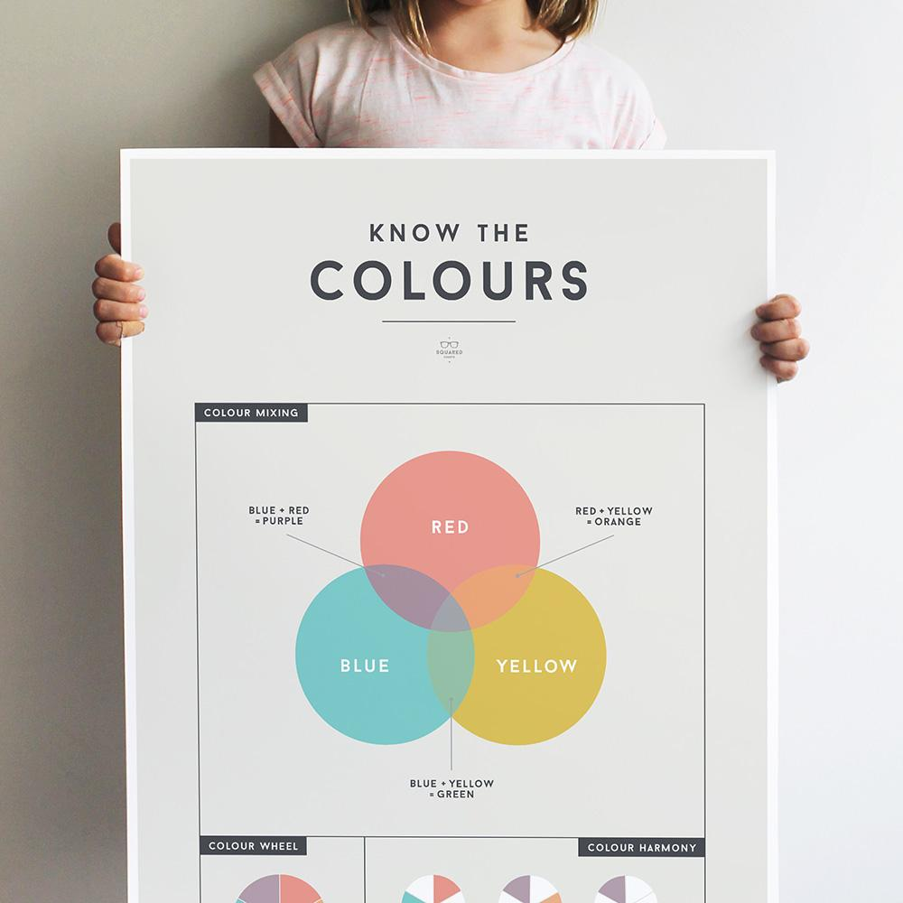 We Are Squared - Colours Poster For Kids