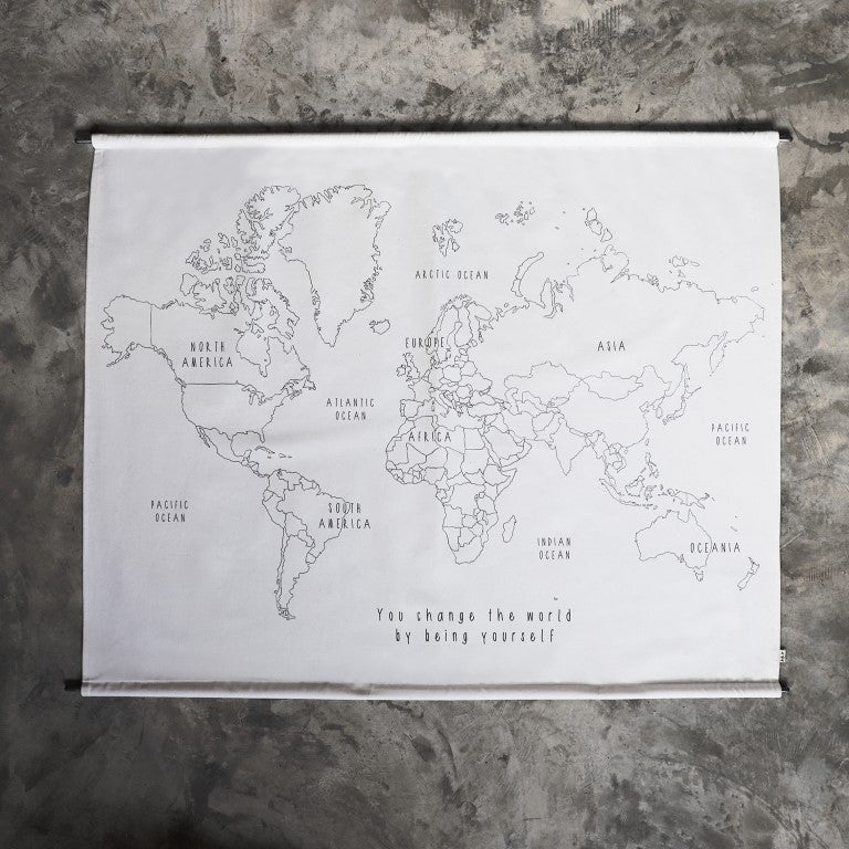 Numero 74 - World Map Poster Embroidery Kit