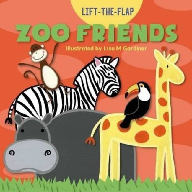 Children's Books Zoo Friends Lift the Flap Picture Book