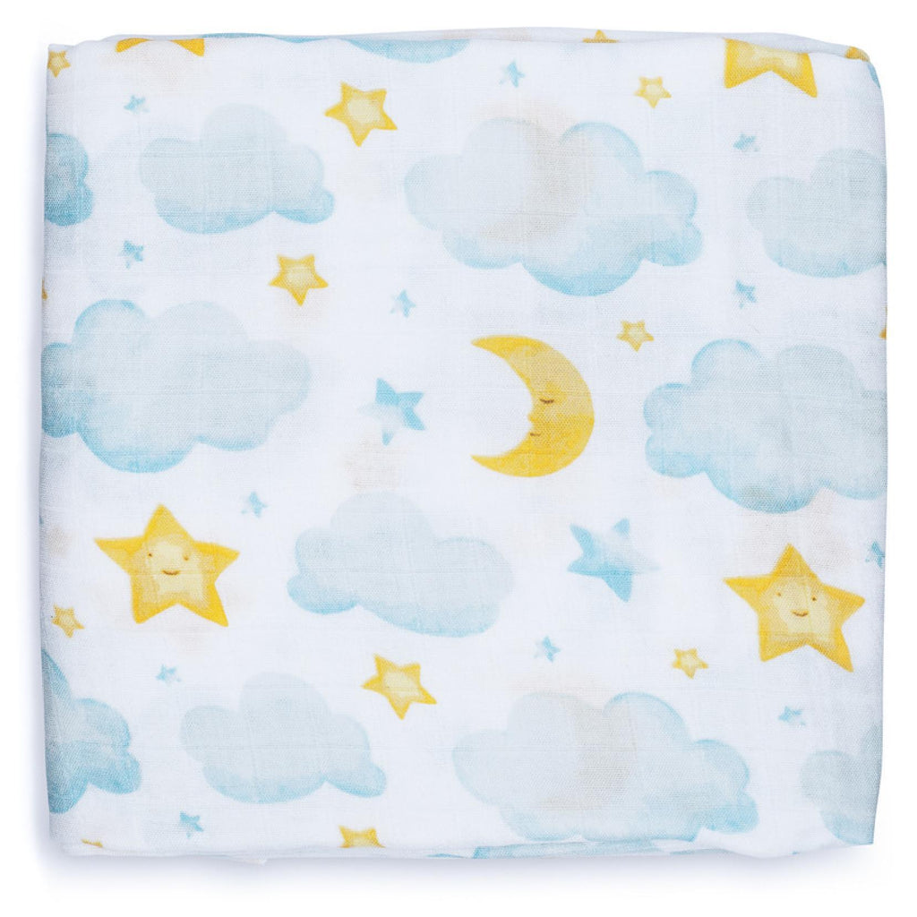 Adaline Bamboo Baby Swaddle Wrap Moon and Stars