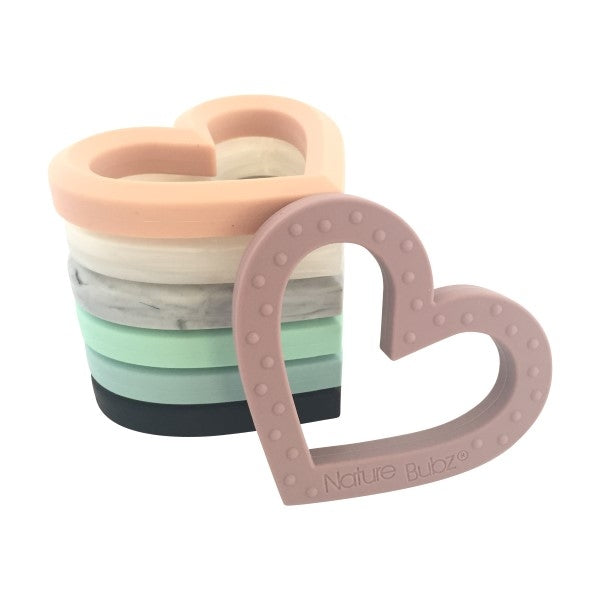 Nature Bubz Adore Silicone Heart Shaped Teether