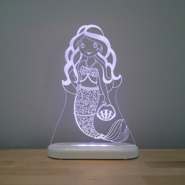 Aloka LED Sleepy Light Kids Night Light  Mermaid