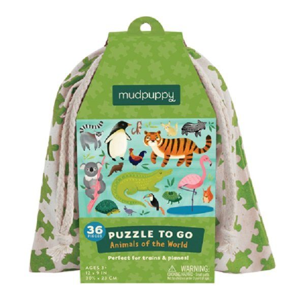 Mudpuppy 36pc To Go Puzzle  Animals of the World