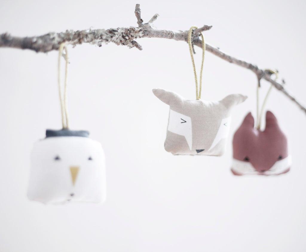 Fabelab Christmas Tree Soft Ornaments Animals
