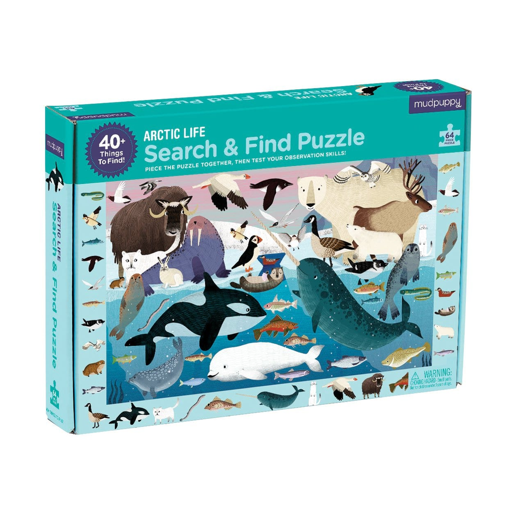 Mudpuppy Arctic Life Search and Find Puzzle  64 Piece Puzzle