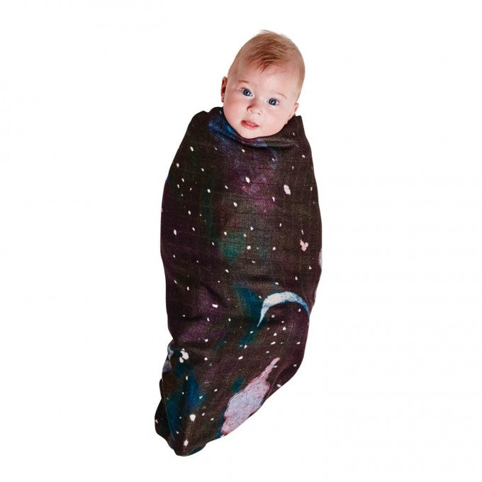 Kip & Co Starry Night Bamboo Baby Swaddle Wrap