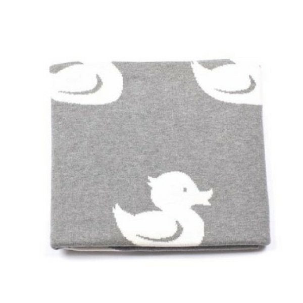 Indus Design Duck Baby Blanket Grey and White