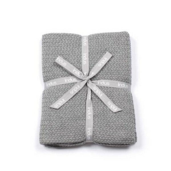 Indus Design Grey Baby Blanket