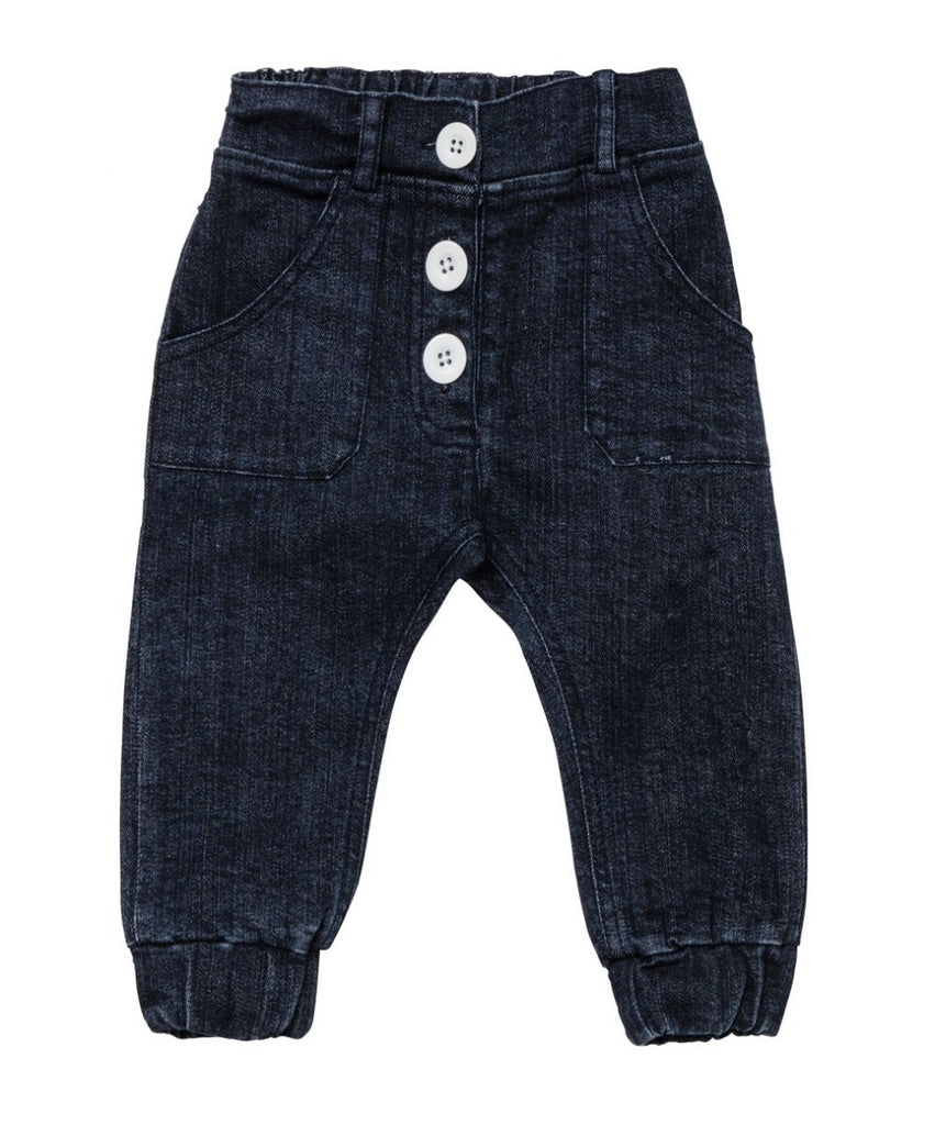 Baobab Baby Jeans  Blue with Buttons