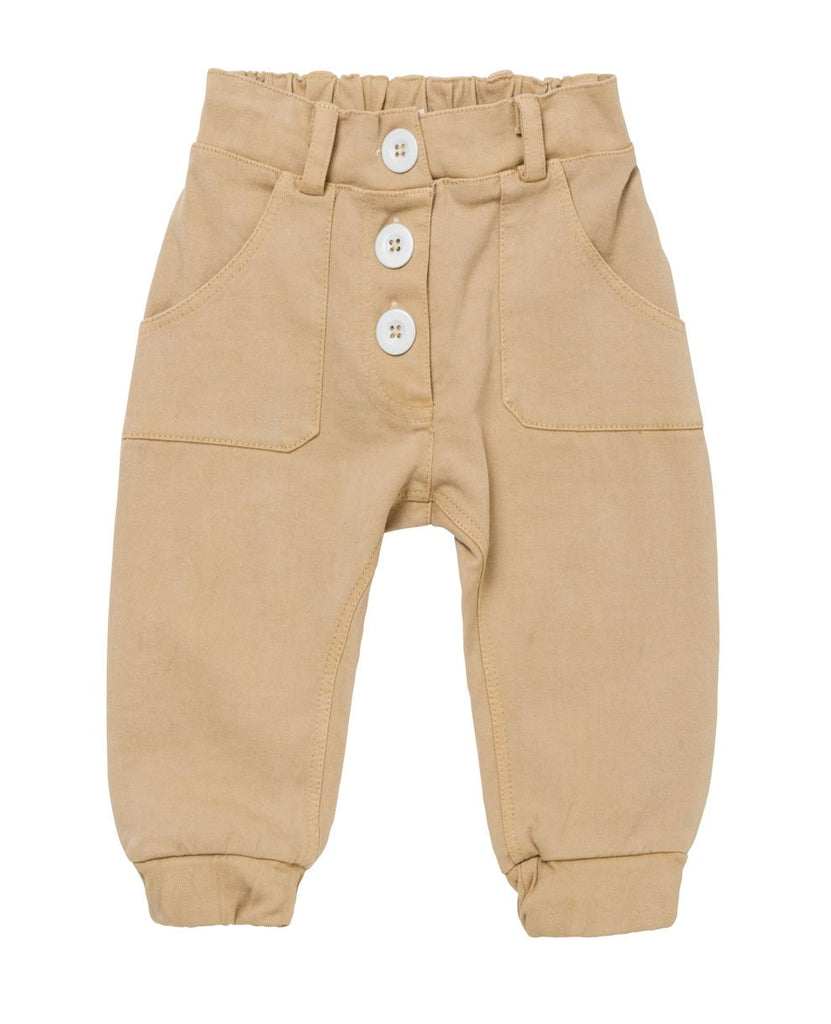 Baby Jeans Caramel with Buttons
