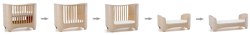 Leander Baby Cot and Mattress - White