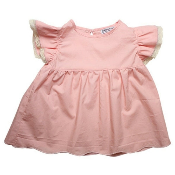 Daisy and Moose Baby Clothes  Pink Babydoll Top