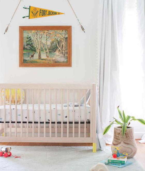 Babyletto - Gelato 3 in 1 Cot - Washed Natural With White Feet