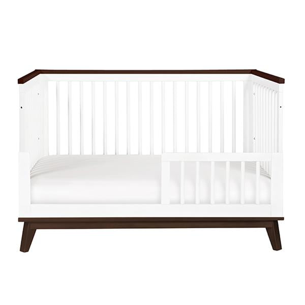 Babyletto - Scoot 3 in 1 Cot - White with Walnut Trim