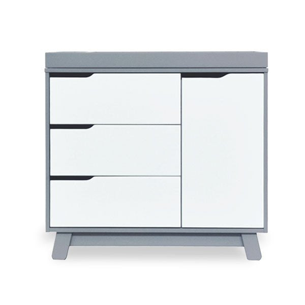 Babyletto Hudson Changer and Dresser Grey & White