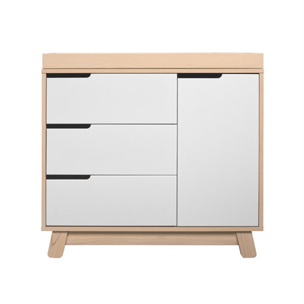 Babyletto Hudson Changer and Dresser Natural & White Drawers