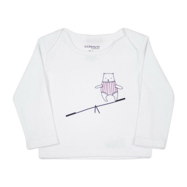 SOOKIbaby Bear On A Seesaw Longsleeve Top