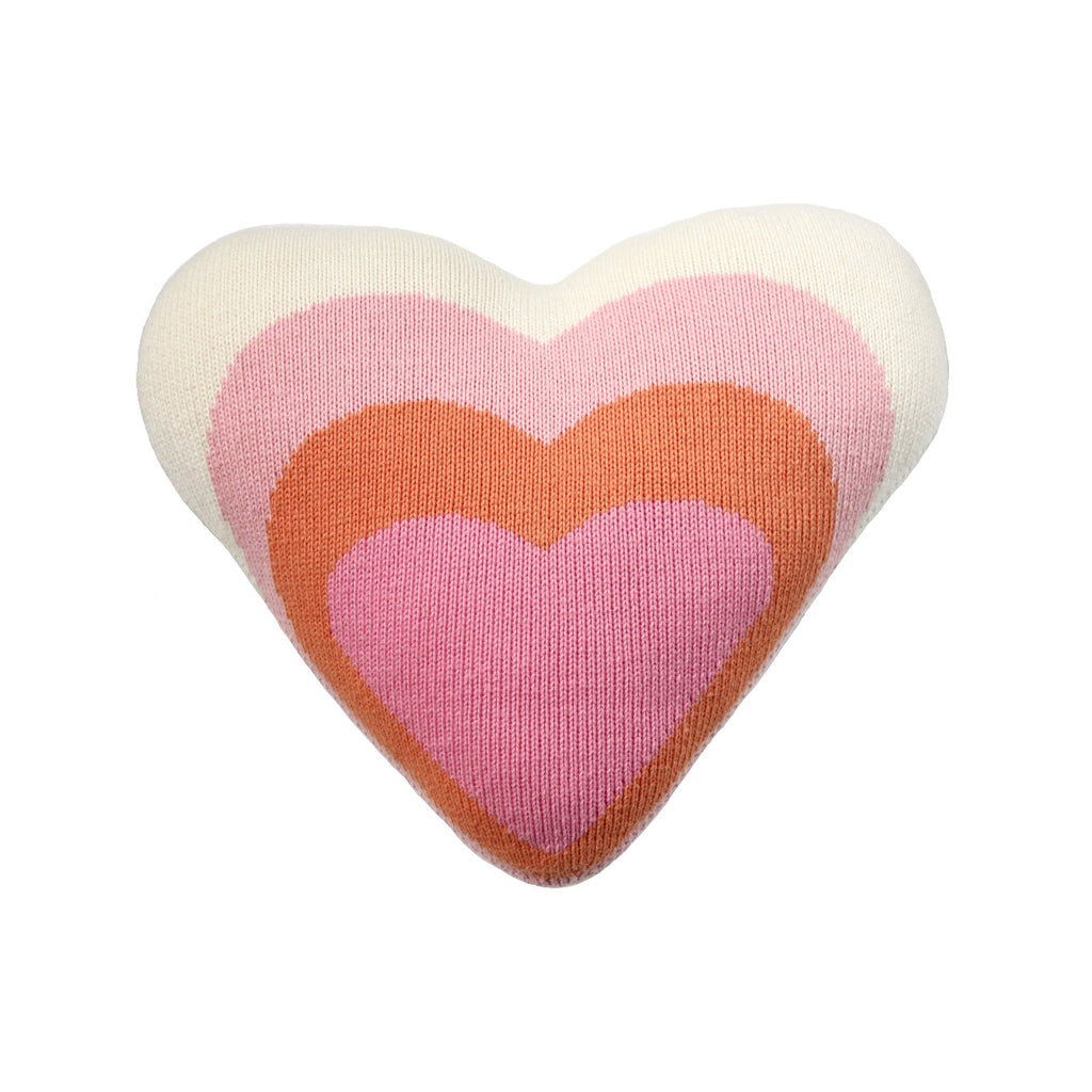 blabla Knitted Cotton Cushion - Heart Pillow