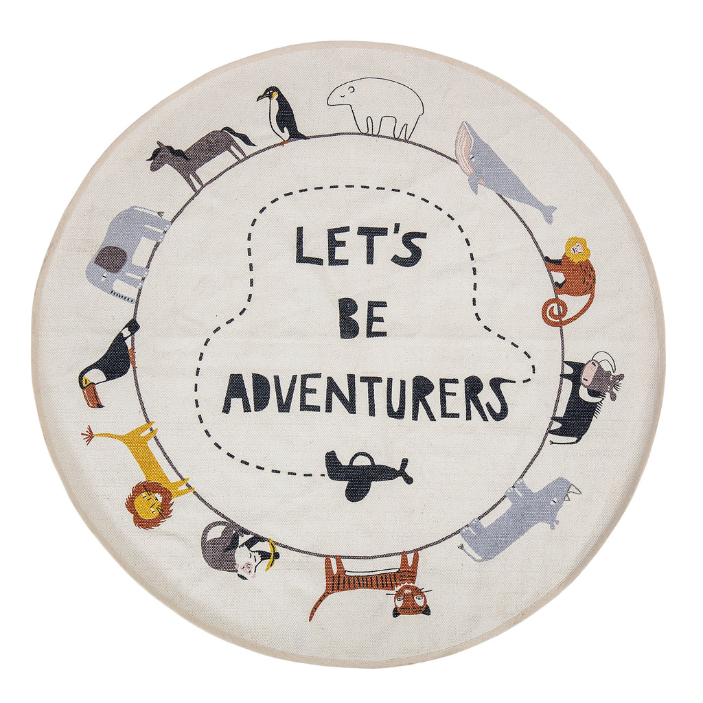 Bloomingville Mini - Let's Be Adventurers Kids Rug