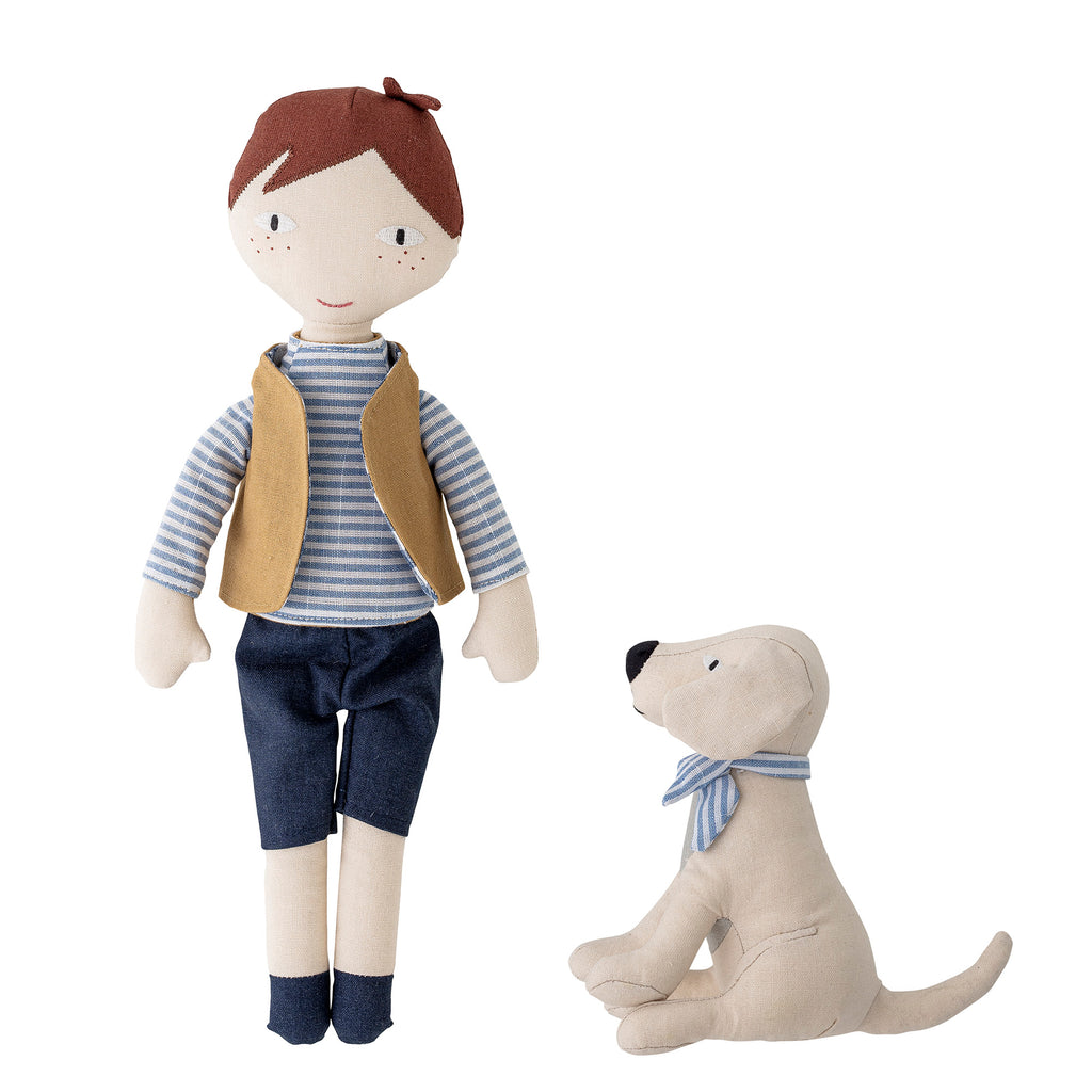Bloomingville Mini - Boy and Dog Doll Set