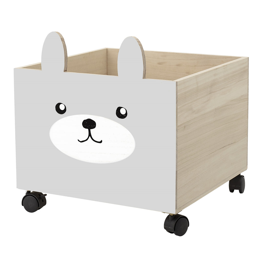 Bloomingville Mini - Animal Face Grey Storage Box With Wheels