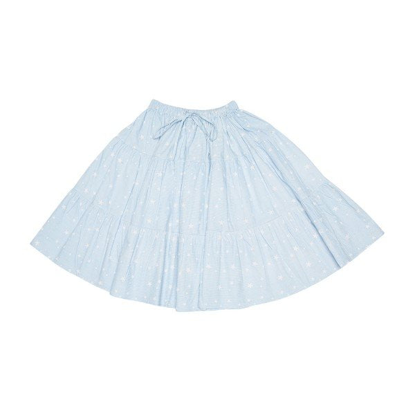 The Story Of Viona Star Stripe Skirt Blue