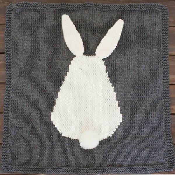Bunny Baby Blanket Grey Large