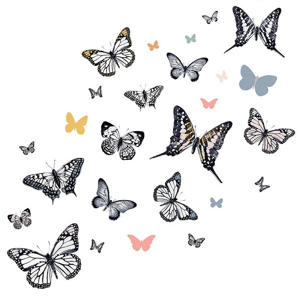 Love Mae Fabric Wall Stickers Monarch Butterflies