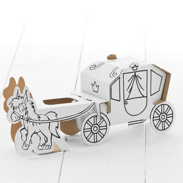 Calafant Level 1 Art and Craft Build and Colour  Horse and Carriage