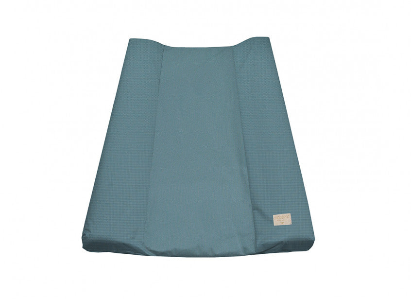 Nobodinoz Changing Pad Cover  Teal Honeycomb