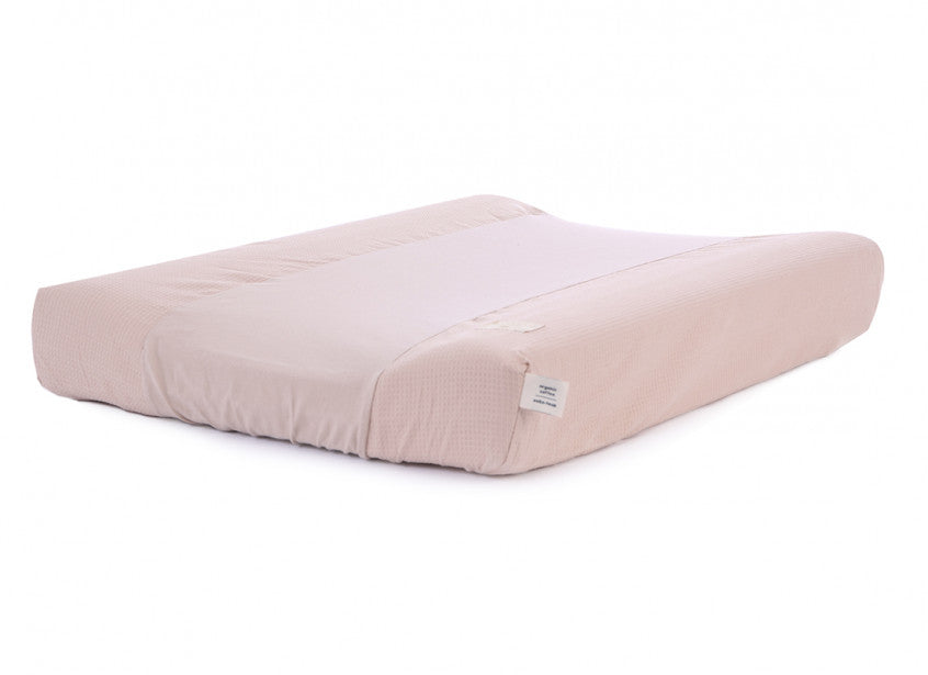 Nobodinoz Changing Pad Cover  Misty Pink Honeycomb