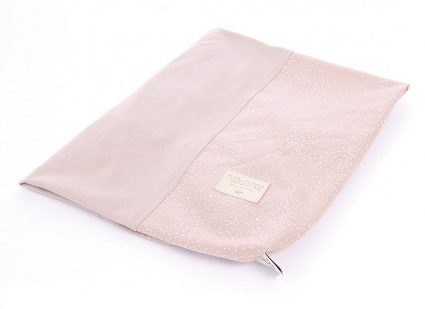 Nobodinoz Changing Pad Cover  White Bubble, Misty Pink