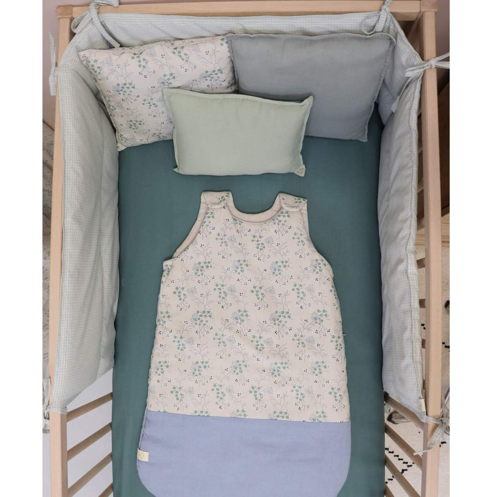 Camomile London Organic Cot Sheet - Fitted Sheet in Teal