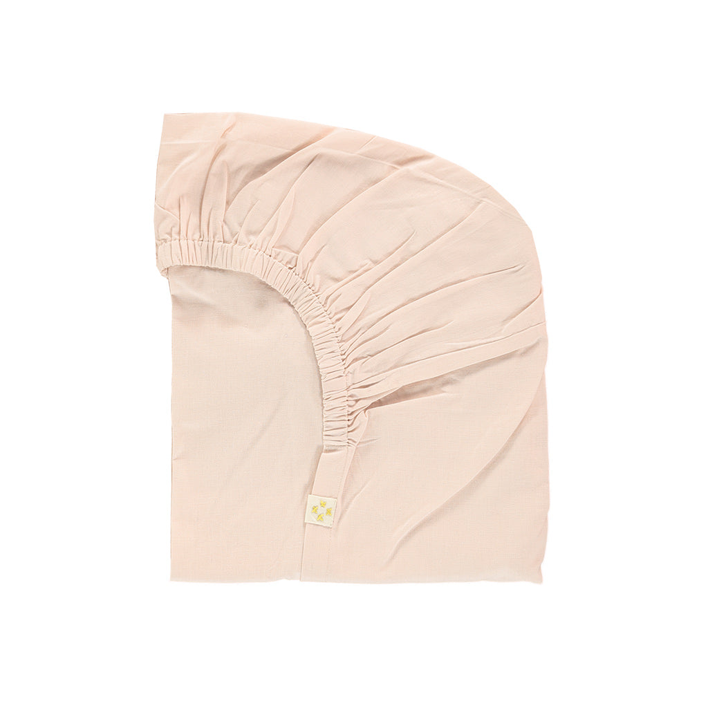 Camomile London Organic Kids Bedding - Fitted Sheet in Pink